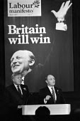 Roy Hattersley, Neil Kinnock, Launch of Labour Party 1987 General Election Manifesto, press conference, London - Peter Arkell - 19-05-1987