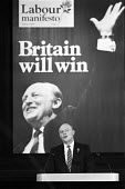 Neil Kinnock, Launch of Labour Party 1987 General Election Manifesto, press conference, London - Peter Arkell - 19-05-1987
