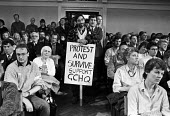 Campaign rally, GCHQ trade union ban, London 1988. Protest and Survive Support GCHQ - Peter Arkell - 31-10-1988