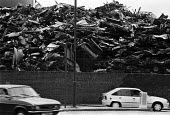 Pile of scrapped cars South East London 1989 - Peter Arkell - 10-06-1989