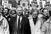 Keep the Pits Open TUC protest London 1993. Arthur Scargill NUM - Peter Arkell - 06-02-1993