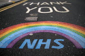 Thank You NHS tribute, The Royal London Hospital, Barts Health NHS Trust, Whitechapel, East London. - Jess Hurd - 16-02-2021