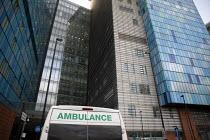 Ambulance, The Royal London Hospital, Barts Health NHS Trust, Whitechapel, East London. - Jess Hurd - 16-02-2021