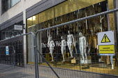 Closed Topshop flagship high street clothing store after ASOS brought the company, Covid pandemic lockdown, Oxford Street, Central London. - Jess Hurd - 03-03-2021