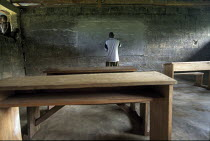 10-11-1999 - Ijaw school house in the Delta region of Nigeria. The ijaw communities claim Shell has damaged their fishing grounds and have failed to put any revenues from their huge oil income back into the area w... © Adrian Arbib