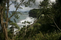 13-02-2010 - The remote Pololu Valley was the site of an ancient Hawaiian settlement, before colonization. The Hamakua coast on the windward side of the big island of Hawaii, Pacific Ocean. © David Bacon