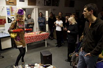 19-12-2012 - A cross dresser, Tia Anna, performs at Access space charity, Sheffield centre. © Connor Matheson