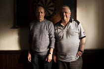 29-10-2014 - Retired steelworkers playing snooker in the Redbourne social club owned by Tata Steelworks. Scunthorpe, North Lincolnshire. © Connor Matheson