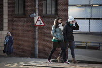 14-03-2015 - Young women walking along West Street. Sheffield, South Yorkshire. © Connor Matheson