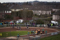 15-03-2015 - Sheffield Cycle Speedway Club. A cycling race, Cookson park Shirecliffe, Sheffield, South Yorkshire. © Connor Matheson