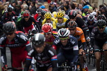 03-05-2015 - Competitors take part in the first anual Tour De Yorkshire, a cycling race inspired by the success of the Tour De France. Barnsley Centre, South Yorkshire. © Connor Matheson