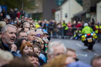 03-05-2015 - Local people and cycling enthusiasts watching the first anual Tour De Yorkshire, a cycling race inspired by the success of the Tour De France. Barnsley Centre, South Yorkshire. © Connor Matheson