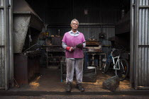 18-05-2015 - A worker posing for a portrait. J Adams and Sons manufacture a range of military and cooking knives out of steel using traditional hand based production methods. The family business employs around 16... © Connor Matheson