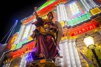 23-07-2015 - The Feast of Our Lady of Sorrows St. Pauls Bay Malta. Church lit up by hundreds of lightbulbs. The celebration is traditionally a celebration of the patron saint, but today the event is more of a comm... © Connor Matheson