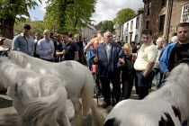 07-06-2015 - Appleby Horse Fair, Cumbria, Uncle John Vine horse dealing along the Sands © David Mansell