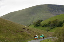 09-06-2015 - Appleby Horse Fair, Cumbria, horse drawn caravans returning along the Hartside Pass © David Mansell