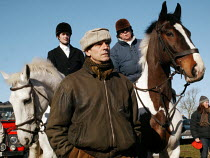 19-02-2005 - Jeremy Irons, the actor is a pro-hunting protester, and is seen at the gathering of the Bicester Hunt, Oxfordshire, who were protesting against the Labour Government's introduction to a ban on fox hun... © David Mansell