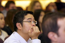 23-02-2011 - Students attending a public lecture Cass Business school , London © Duncan Phillips