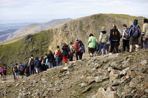 03-08-2011 - School pupils on a trip to Mount Snowdon, North Wales © Duncan Phillips