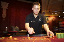 20-07-2012 - Croupier at Central London Casino © Duncan Phillips