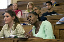 17-11-2005 - University students in lecture theatre. © Duncan Phillips