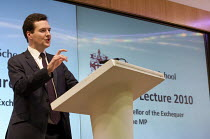 24-02-2010 - George Osborne MP Delivering The annual Mais Lecture Cass Business School © Duncan Phillips