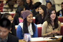 14-10-2009 - University students in a lecture. © Duncan Phillips