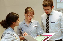 11-03-2003 - Student Nurses and a Doctor St Bartholomew School of Nursing and Midwifery City University. London. © Duncan Phillips