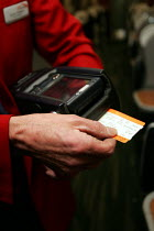23-12-2004 - Rail Ticket being issued onboard a train © Duncan Phillips