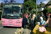 13-06-2005 - School children departing on a school journey, whilst parents waiting to see them off. © Duncan Phillips
