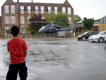 25-08-2005 - Air Ambulance landing in a car park © Duncan Phillips