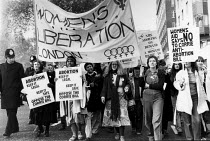 23-11-1979 - Women protest the Corrie Bill restricting abortion rights London. Women's Liberation Movement © Val Wilmer