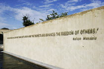 20-04-2005 - A quotation from Nelson Mandela on the entrance wall, to the Apartheid Museum in Johannesburg, South Africa. © Gerry McCann