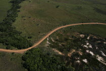 02-05-2005 - An aeriel view of a car traveling throuh iSimangaliso Wetland Park, on South Africas east coast (also called Elephant coast). © Gerry McCann