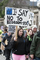 03-30-2013 - Protesters march through Edinburgh in protest against the Bedroom Tax. © Gerry McCann