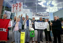 16-09-2000 - The opening of the Commonwealth Games swimming pool in Manchester was disrupted by protestors angry at the closure of the smaller Didsbury pool by Manchester Metropolitan University. Demonstrators fee... © Paul Herrmann