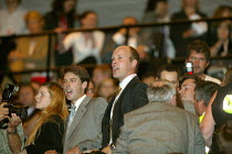 28-09-2004 - Fox Hunting protestors interrupt Tony Blair speaking, Labour Party Conference 2004 © John Harris
