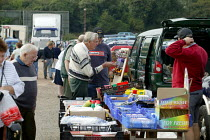 06-09-2003 - Saturday morning car boot sale, Stratford on Avon, Warwickshire. © John Harris
