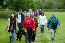 12-06-2005 - Walkers on a ramble to commemorate Joseph Arch, who began the Agricultural Workers Union, now part of the TGWU, Barford to Wellesbourne. Warwickshire. © John Harris