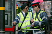 25-06-2007 - Parking attendant and deputy supervisor on the streets of Birmingham © John Harris