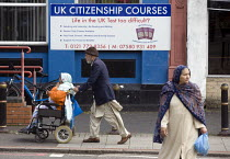 12-07-2012 - Language school offering courses to help foreign nationals who wish to become British citizens pass the Life in the UK Official Practice Citizenship Test, Sparkhill, Birmingham © John Harris