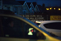 18-12-2012 - Cars and graffiti in the evening rush hour, ring road, Coventry © John Harris