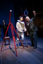 07-02-2013 - Chris Lew Kum Hoi as Cosimi de Medic and his telescope in A Life of Galileo. RSC, Swan, Stratford-upon-Avon © John Harris