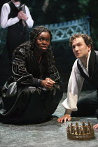 28-01-2013 - Rakie Ayola as Paulina and Jo Stone-Fewings as Leontes in The Winters Tale. RSC, Swan, Stratford-upon-Avon © John Harris
