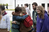 22-06-2013 - Emotional scenes as protesters end the occupation. Protect The Public University, student Occupation of Warwick University Senate House in protest at the against the very high salary of the Vice-Chanc... © John Harris