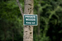 29-04-2013 - Private Woods Keep Out sign, Wellesbourne Wood Warwickshire. © John Harris