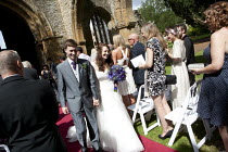 07-08-2014 - Bride and Groom, wedding in the ruins of a church. Warwickshire © John Harris