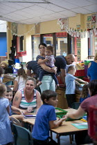 06-07-2015 - Open Day for parents of pupils at primary school, St Richards First School, Evesham, Worcestershire © John Harris