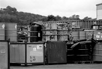 10-10-1989 - Rechem waste incineration plant Pontypool 1989 where worry over the level of PCB deposits in the area has led to protests and calls for a public enquiry © John Harris