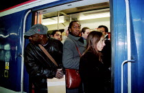 06-01-2000 - Dispute with drivers and Connex South Central trains mean the cancellation of over 300 trains a day. Commuters pack into the few trains that are running from Victoria Station during the rush hour. Dri... © Jess Hurd